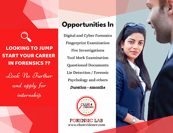 LOOKING TO JUMP START YOUR CAREER IN FORENSICS ??